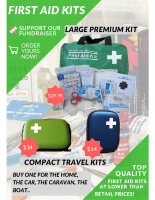 First Aid Kits Fundraising Colour Flyer – One Page